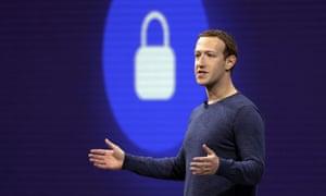 Mark Zuckerberg delivering a speech in 2018