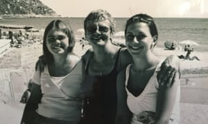 Wendy Mitchell with her daughters in Calpe, Spain, circa 2000.