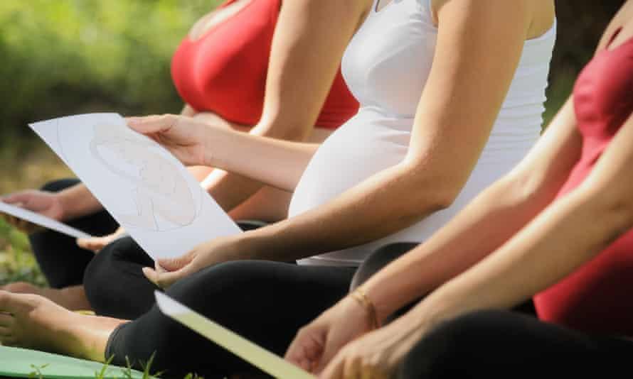 Pregnant Women In Prenatal Class