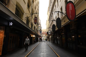 Empty streets are seen in Melbourne, Tuesday, June 1, 2021. Victoria has recorded three new additional cases of coronavirus in the past 24 hours.