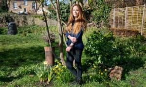 Teacher Kelly Wilcox in her garden