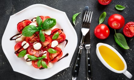 Caprese salad … pizza for a hot day.