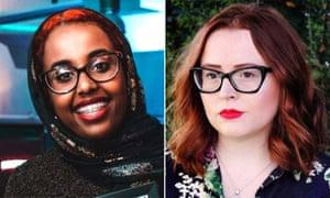 Aspiring journalist Annissa Warsame (left) and PressPad founder Olivia Crellin.