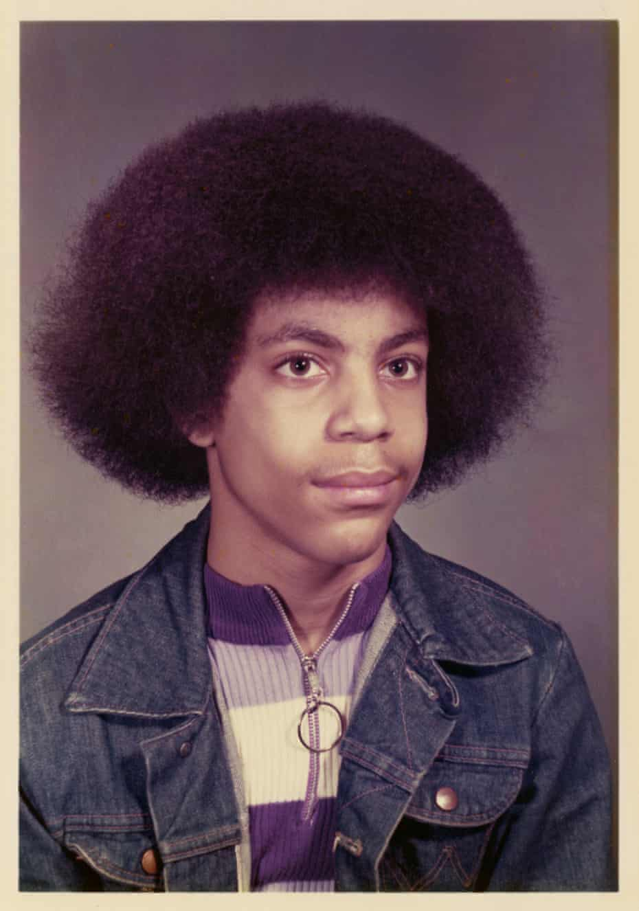 Prince in the ninth grade at Bryant Junior High, Minneapolis, 1973