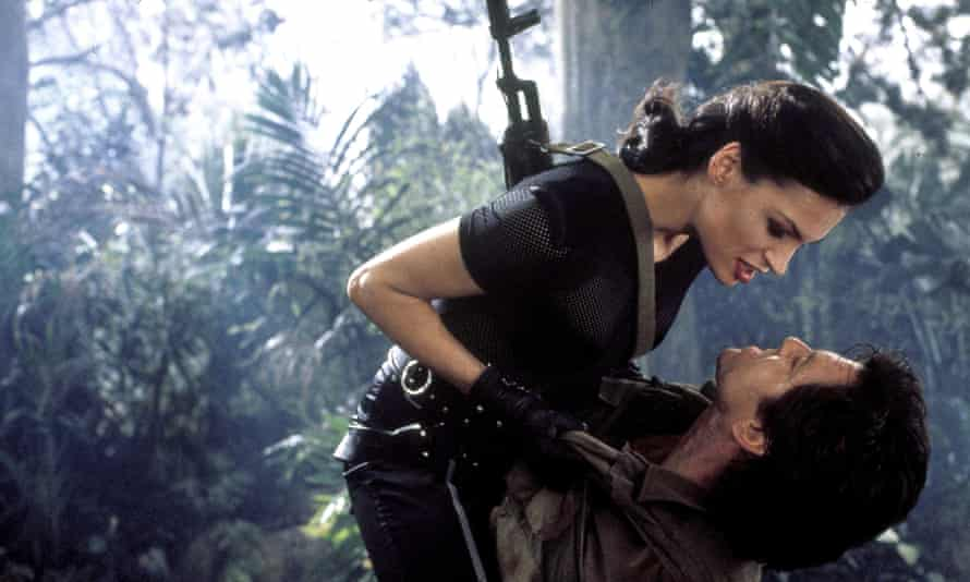 Famke Janssen and Pierce Brosnan in GoldenEye, for which Wooster created some of the action shots.