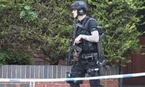 Police presence near Paradise Square in Oxford.