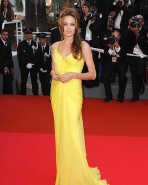 Angelina Jolie and the condiment colour combo, at Cannes in 2007.