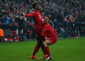Kingsley Coman celebrates