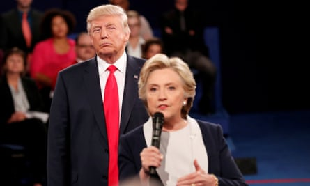 Trump and Clinton debate in St Louis in October 2016. Female students had stress scores that were about 45% higher than male scores.