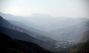 Turkey's Semdinli district is surrounded by mountains in Iran, right, and Iraq, left.