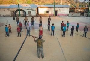 Children training in Ayahualtempa village 2020