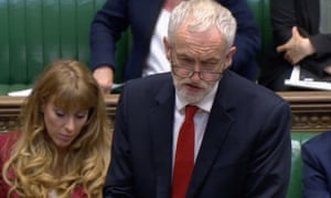 Jeremy Corbyn in the Commons on Monday.