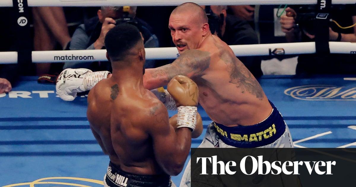 Boxing fans revel in cathartic energy of Anthony Joshua v Oleksandr Usyk   Sachin Nakrani