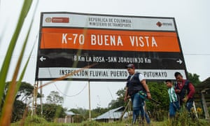 Buenavista village stands along the left bank of the River Putumayo, directly across the water from Ecuador.