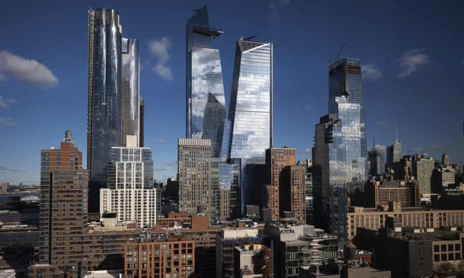 New skyscrapers rise above Hudson Yards in the west side of Manhattan in New York on 4 December 2018.