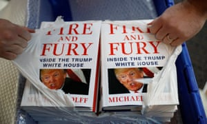 A Waterstones worker opens a package of Michael Wolff's Fire and Fury.