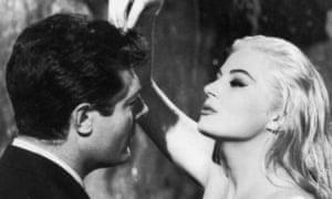 In deep water … Marcello Mastroianni with Anita Ekberg in La Dolce Vita (1960). Photograph: Allstar/Pathe