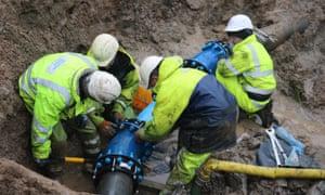 Scottish Water employees at work