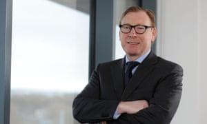 'Ferried around': Tesco Bank boss Benny Higgins.