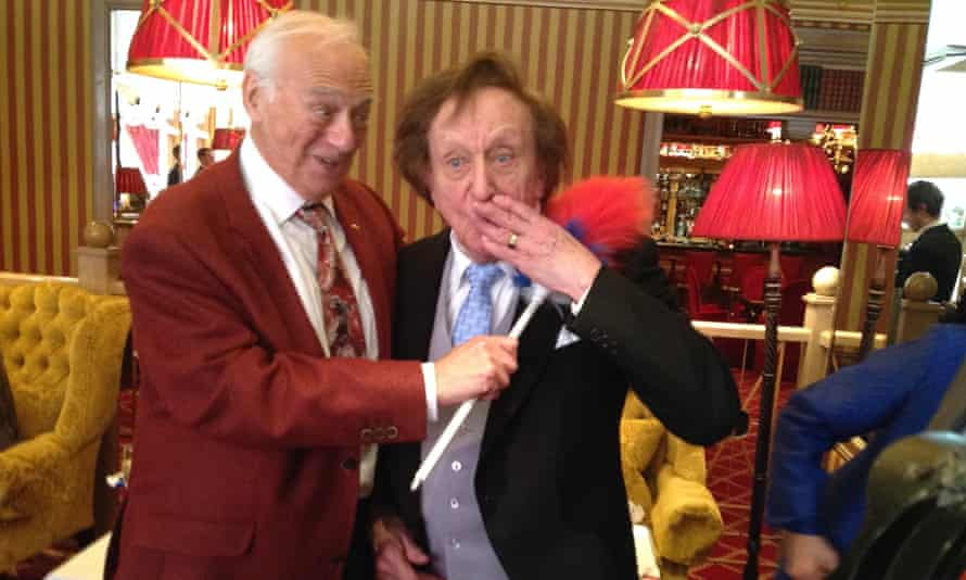 Roy Hudd, left, with Sir Ken Dodd, at the party to celebrate Dodd's knighthood in 2017