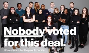 A People's Vote uses a photographer by renowed photographer Rankin