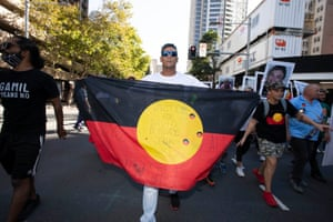 Stop Black Deaths in Custody protest starting at Sydney Town Hall, Australia