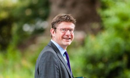 Greg Clark, the business secretary, leaves 10 Downing Street.