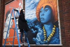 Norwegian street artist, Zina.
