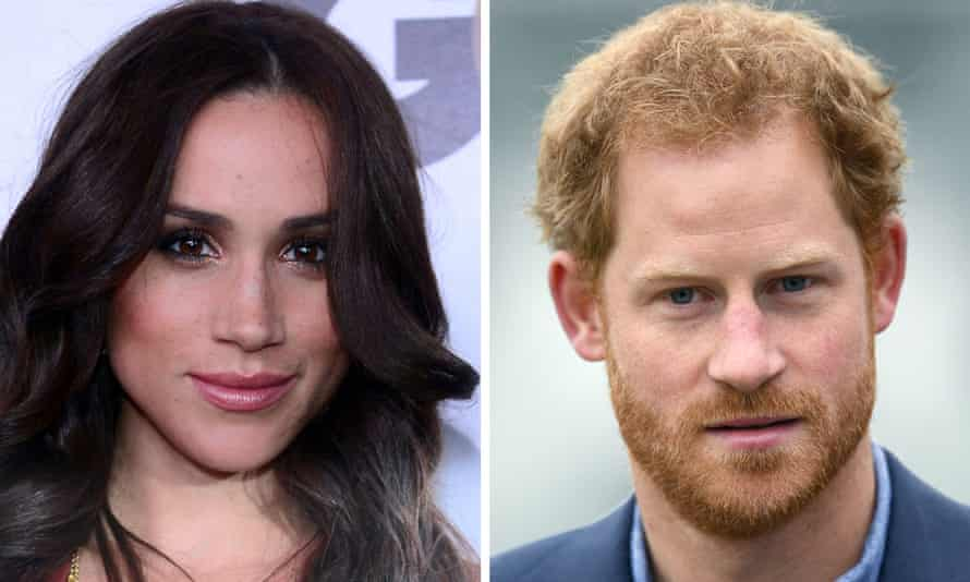 Composition picture showing Meghan Markle and Prince Harry.
