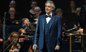 Andrea Bocelli performs at the O2 Arena.
