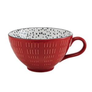 Snuggle up with a mug of hot chocolate Sahara mug, £4, tesco.com