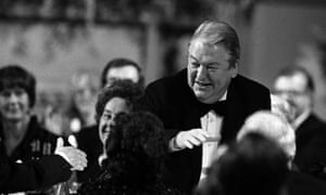 Kingsley Amis at the 1985 Booker ceremony