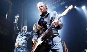 Gang of Four's guitarist Andy Gill, right, and singer Jon King performing in New York in 2011.