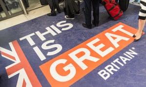 Passport control at UK border crossing at Gare du Nord
