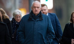 David Duckenfield arriving at Preston crown court during his trial.