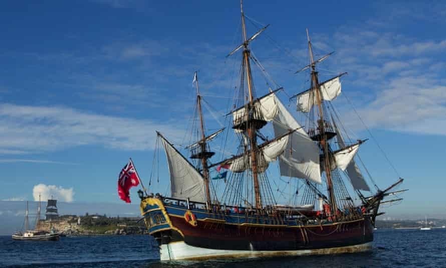reconstruction captain Cook Endeavour