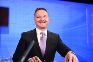Shadow Treasurer and member for McMahon, Chris Bowen delivers the Opposition' budget reply at the National Press Club in Canberra, Tuesday, May 10, 2016.