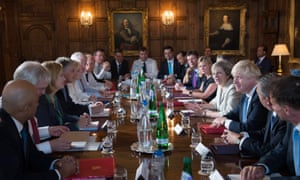Theresa May holds a cabinet meeting at Chequers.