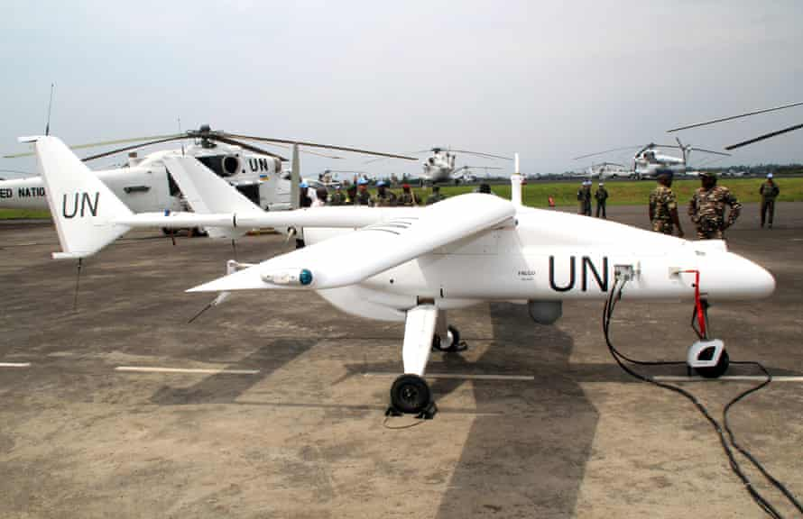 A UN surveillance drone in the Democratic Republic of the Congo. Photograph: AFP/Getty Images