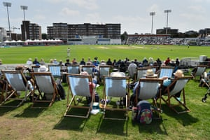 A general view during the Specsavers County Championship: Division Two match between Sussex and Middlesex at the County Ground.