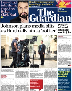 Guardian front page, Tuesday 25 June 2019