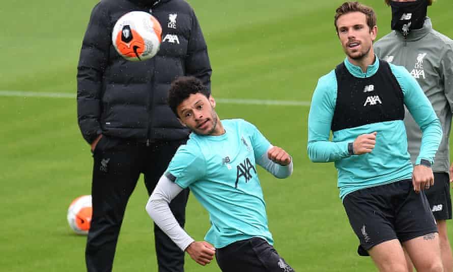 Training earlier on Wednesday.