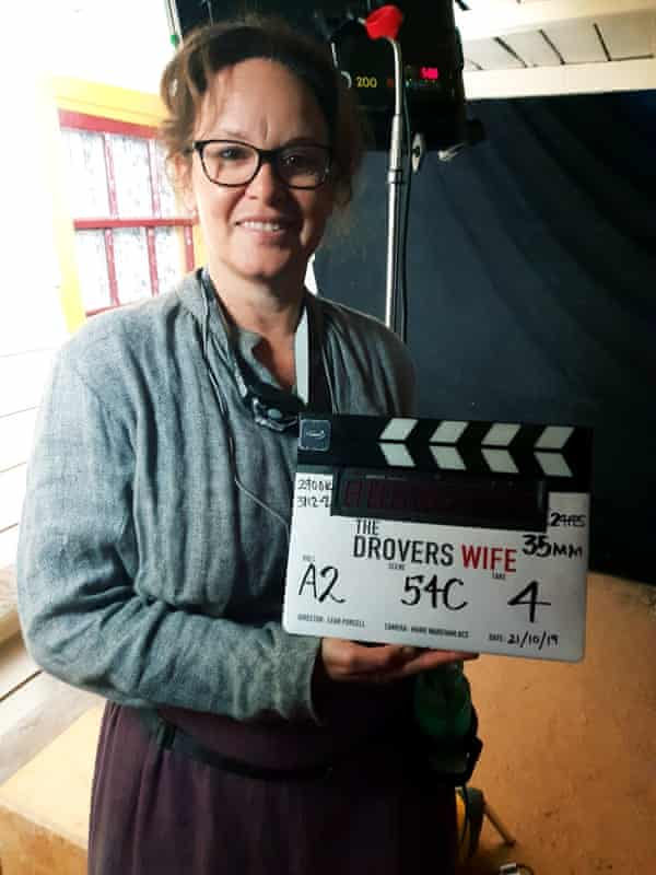 Purcell on the set of her forthcoming film The Drover's Wife, which she was writing at the same time as the book.