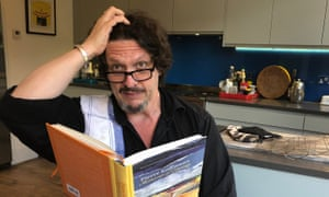 'I decided I needed something more challenging. This is because I am stupid, and don't know when to quit': Jay Rayner cooking at home.