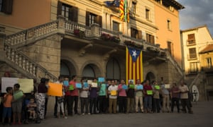 Members of the Muslim community in Ripoll gather along with relatives of young men believed responsible for the attacks in Barcelona and Cambrils to denounce terrorism and show their grief.