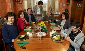 Give 'em enough OAP: Amstell with the cast of Grandma's House.
