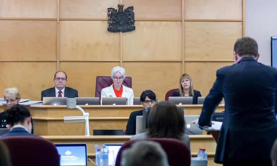 Justice Jennifer Coate (centre), commissioner Helen Milroy (right) and commissioner Andrew Murray at the public hearing into Institutional Responses to child abuse in Rockhampton on Tuesday.