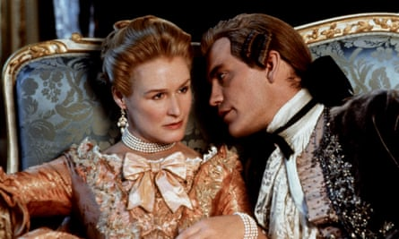 Glenn Close and John Malkovich in 1988's Dangerous Liaisons