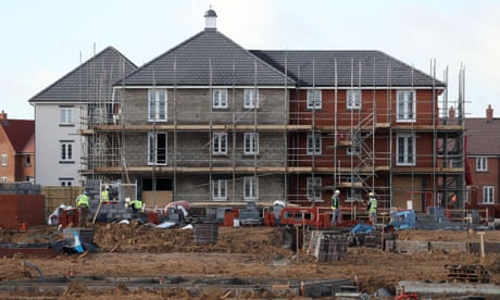 UK housebuilding falls to slowest quarterly rate for three years