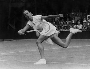 Tennis Fashion: American tennis player Gertrude Moran, or 'Gorgeous Gussie'